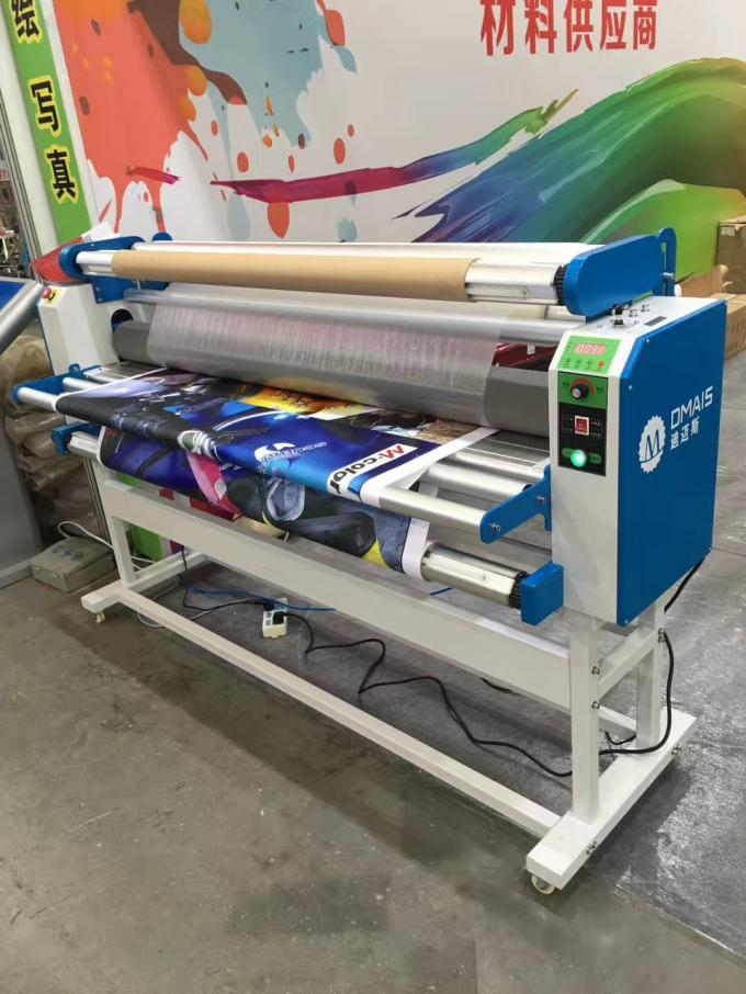 Automatic Electric Cold Laminator 10M / Min With Silicone Anti Adhesive Roller