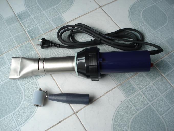 High Power 3400 W Hot Air Welding Machine 70mm Nozzle With Rubber Press Roller
