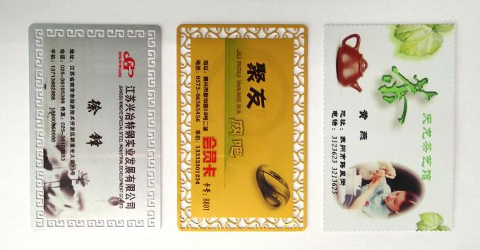 CE Aluminum Business Cards , 86*54 Mm Sublimation Business Card Blanks