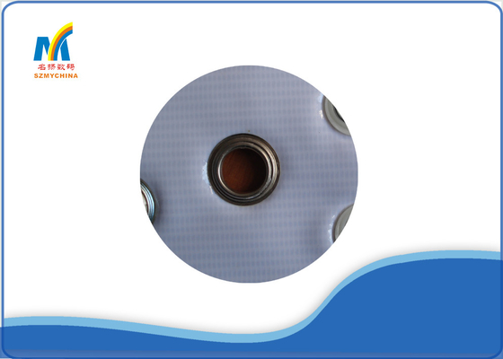 China Iron Metal Eyelet Grommet For Industrial Eyelet Machine , Silver Color Eyelets For Fabric supplier
